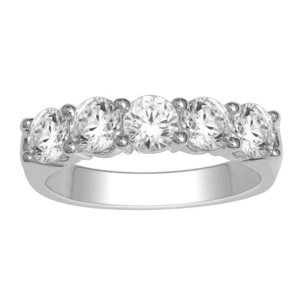Five Stone Diamond Ring With 1 1/2 Carat Tw Of Diamonds In 18Kt White Gold