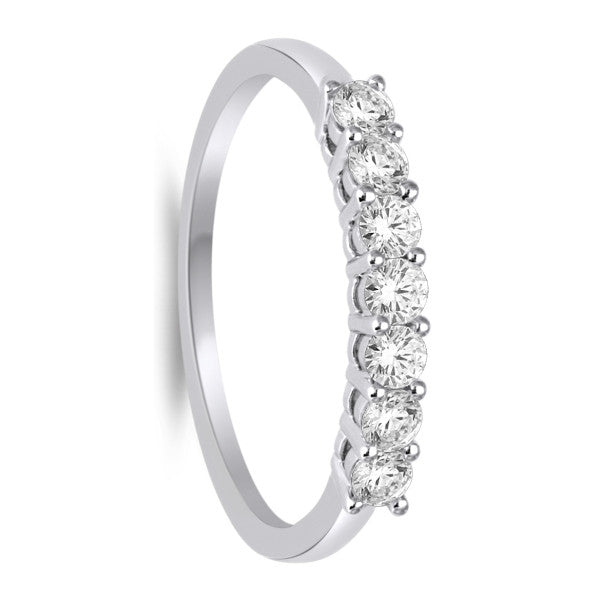 Seven Stone Diamond Ring With 0.58 Carat Tw Of Diamonds In 14Kt White Gold