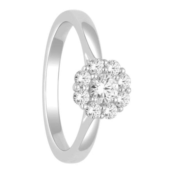 Diamond Fashion Ring With 1/2 Carat Tw Of Diamonds In 14Kt White Gold