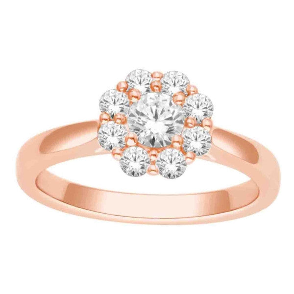 Diamond Fashion Ring With 3/4 Carat Tw Of Diamonds In 14Kt Rose Gold