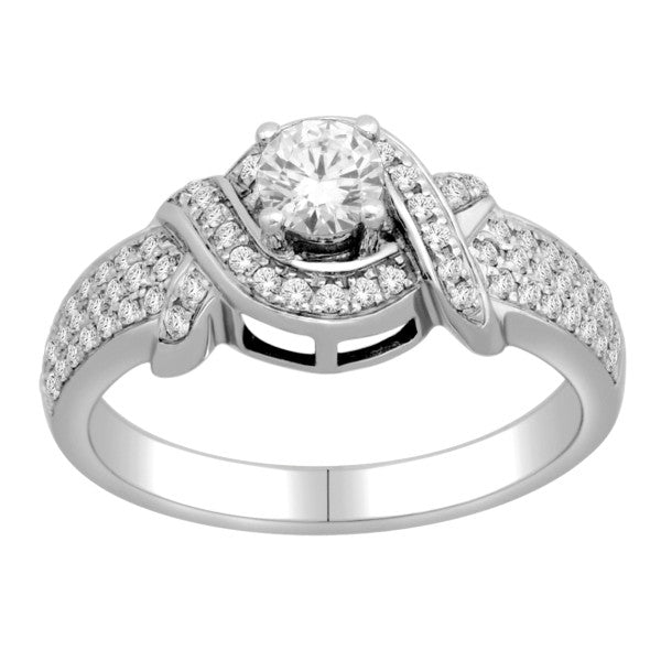 Diamond Wedding Ring  With 3/4 Carat Tw Of Diamonds In 18Kt White Gold