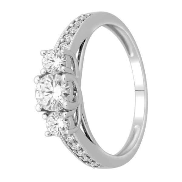 Diamond Wedding Ring  With 1 Carat Tw Of Diamonds In 18Kt White Gold