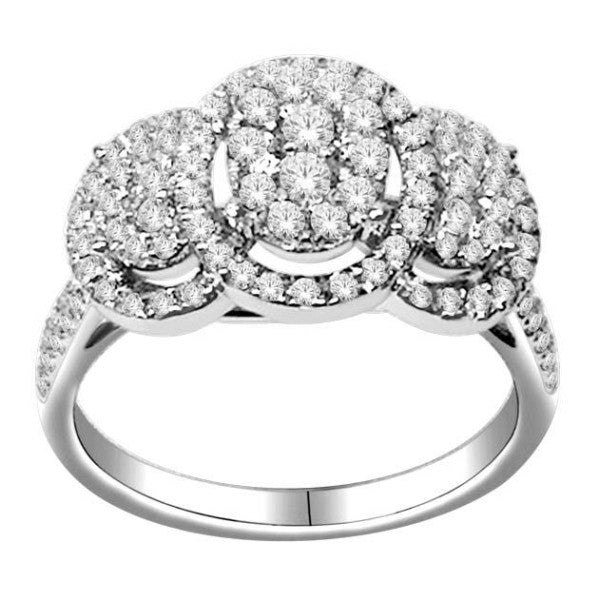 18Kt White Gold Wedding Ring With 1 Carat Tw Of Diamonds