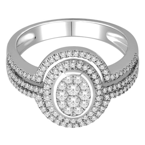 18Kt White Gold Wedding Ring With 1/2 Carat Tw Of Diamonds