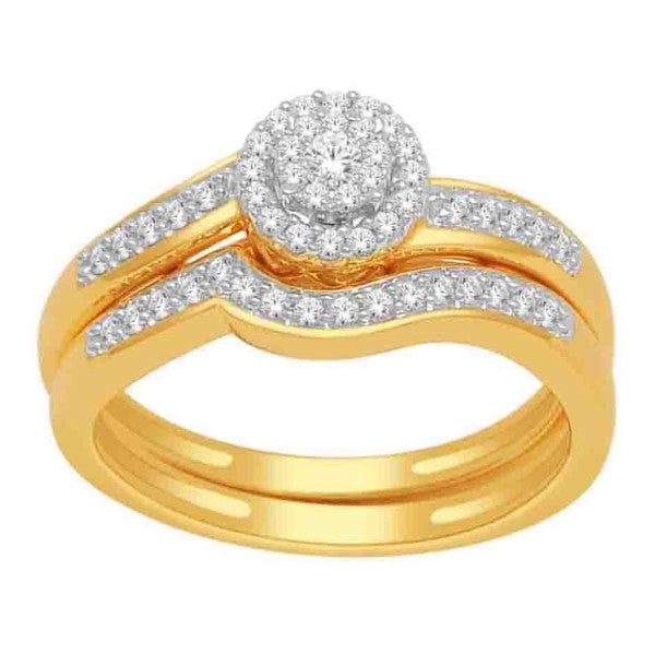 Bridal Set With 1/3 Carat Tw Of Diamonds In 14Kt Yellow Gold