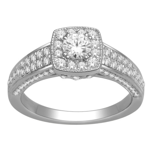 Engagement Ring With 1 Carat Tw Of Diamonds In 18Kt White Gold