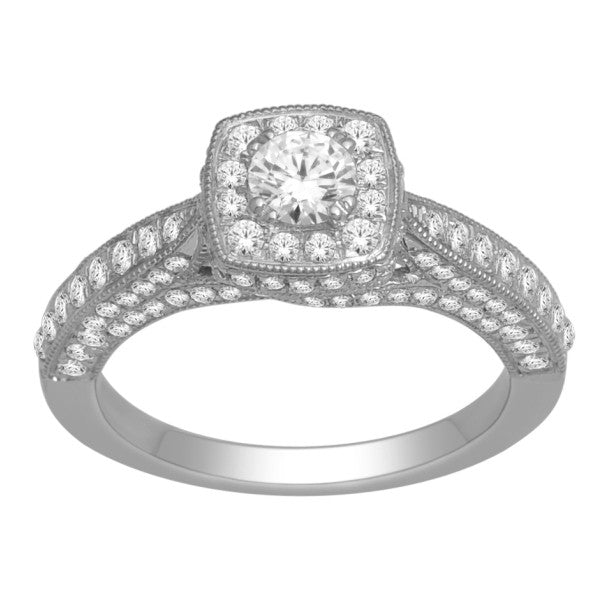 Engagement Ring With 1 1/4 Carat Tw Of Diamonds In 18Kt White Gold
