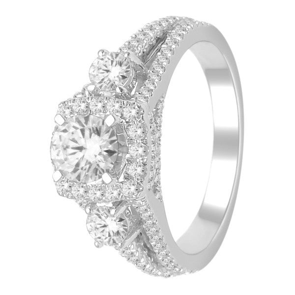 Engagement Ring With 1.90 Carat Tw Of Diamonds In 18Kt White Gold