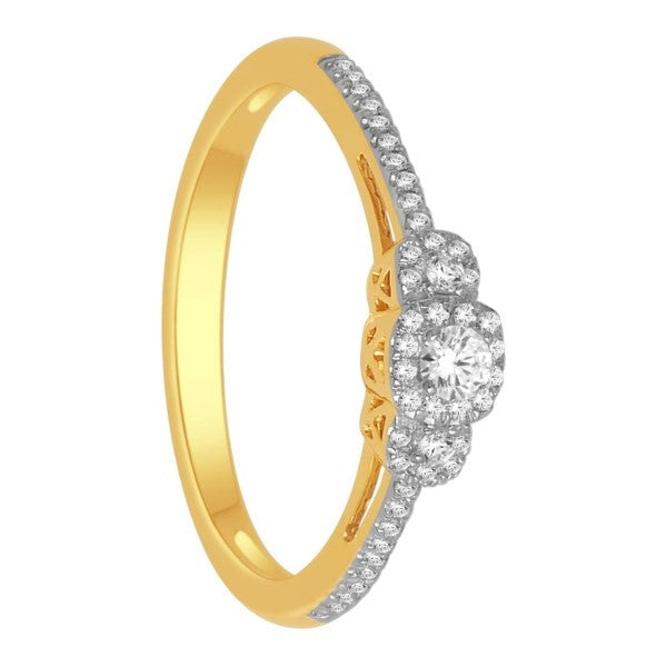 Engagement Ring With 1/5 Carat Tw Of Diamonds In 14Kt Yellow Gold