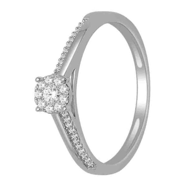 14Kt White Gold Wedding Ring With 1/8 Carat Tw Of Diamonds