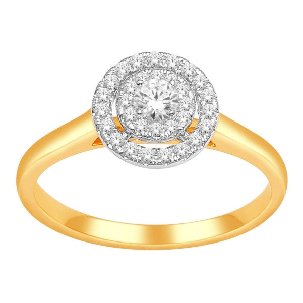 14Kt Yellow Gold Classic Diamond Ring With 1/3 Carat Tw Of Diamonds
