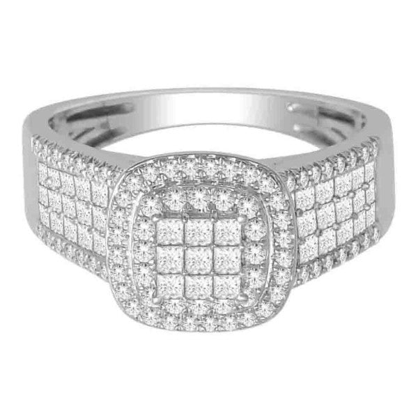 Princess Cut Diamond Ring With 1 Carat Tw Of Diamonds In 18Kt White Gold