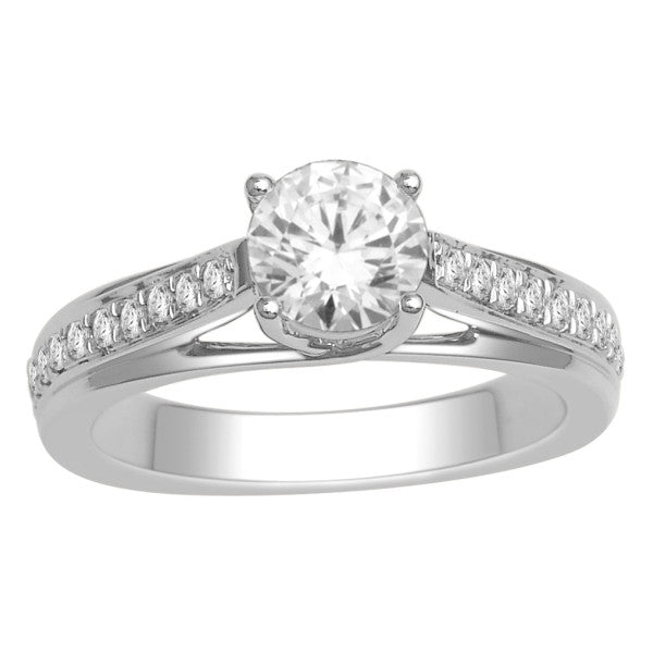 Gia Certified 18Kt White Gold Solitaire Engagement Ring With 1 1/4 Carat Tw Of Diamonds