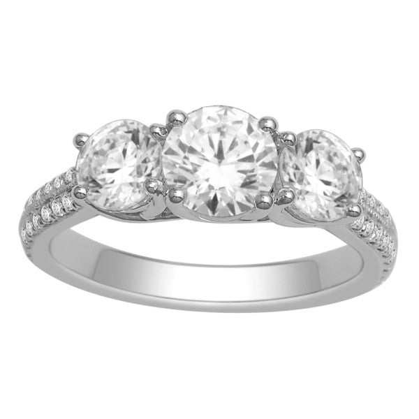 18Kt White Gold Solitaire Engagement Ring With 2 1/4 Carat Tw Of Diamonds