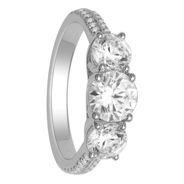 Gia Certified 18Kt White Gold Solitaire Engagement Ring With 2 1/4 Carat Tw Of Diamonds