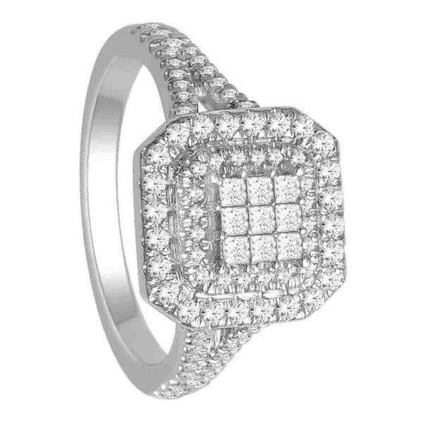 Princess Cut Diamond Ring With 3/4 Carat Tw Of Diamonds In 18Kt White Gold
