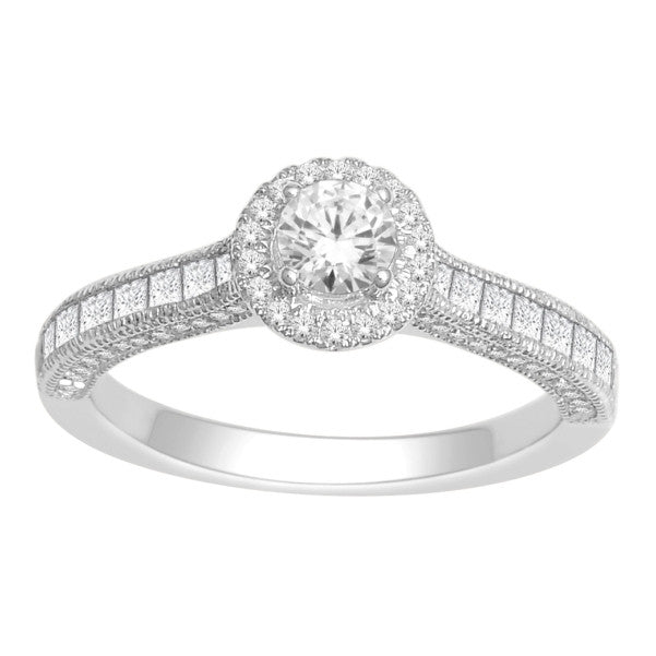 18Kt White Gold Classic Diamond Engagement Ring With 11/4 Carat Tw Of Diamonds