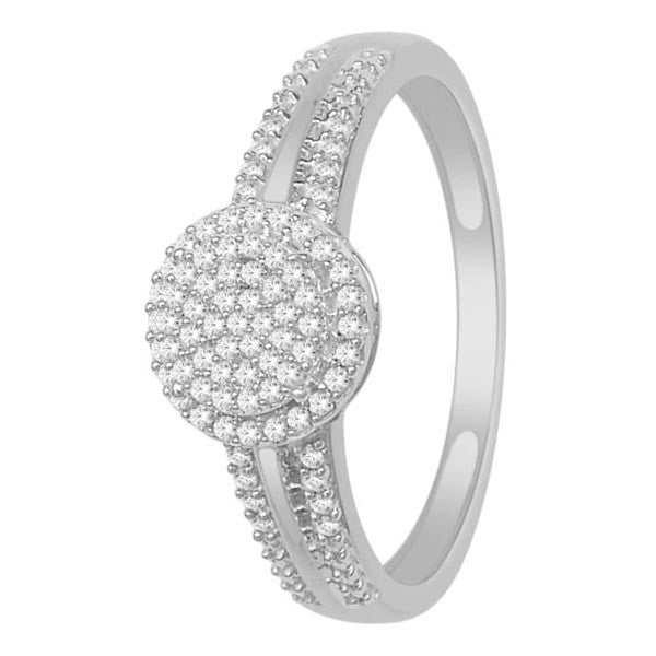 Engagement Ring With 1/5 Carat Tw Of Diamonds In 14Kt White Gold