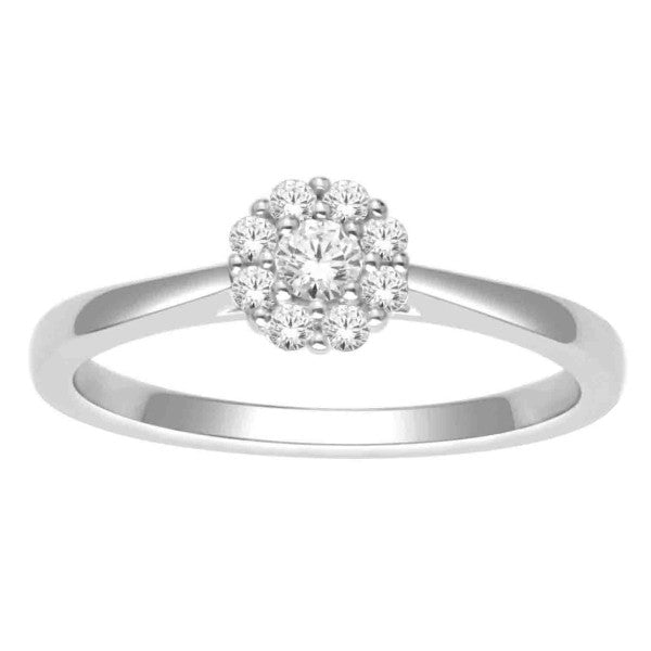 Diamond Fashion Ring With 1/4 Carat Tw Of Diamonds In 14Kt White Gold