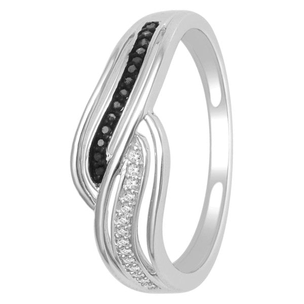 Diamond Ring With 1/15 Carat Tw Of Diamonds In 14Kt White Gold