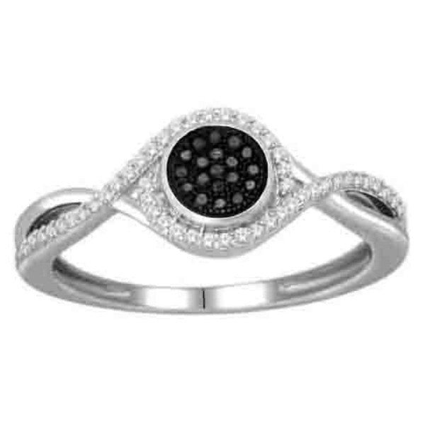 Diamond Fashion Ring With 0.18 Carat Tw Of Diamonds In 14Kt White Gold