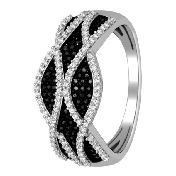 Diamond Fashion Ring With 3/8 Carat Tw Of Diamonds In 14Kt White Gold