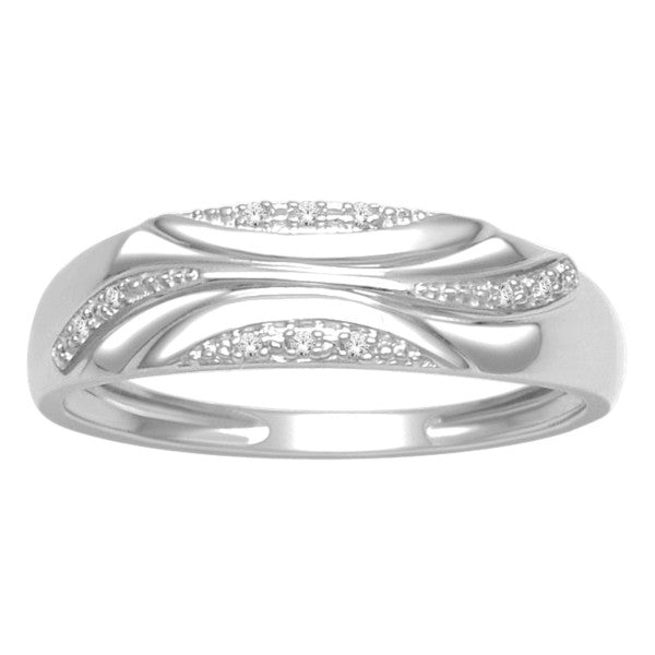 Diamond Ring With 0 02 Carat Tw Of Diamonds In 10Kt White Gold