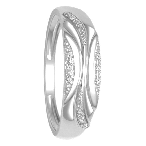 Diamond Ring With 0.02 Carat Tw Of Diamonds In 10Kt White Gold