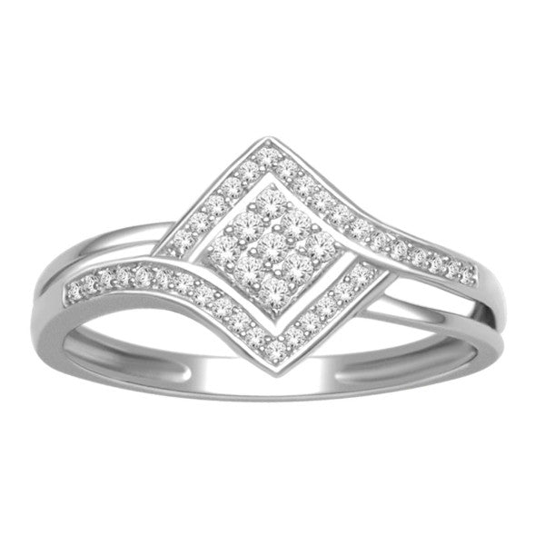 Promise Ring With 1/5 Carat Tw Of Diamonds In 10Kt White Gold