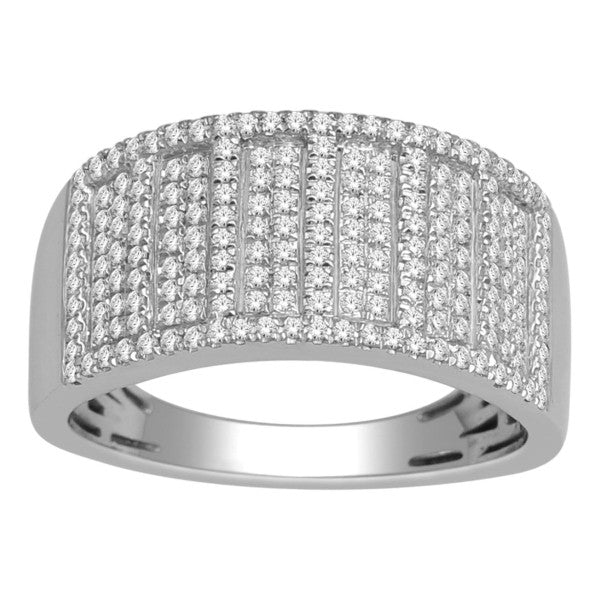 Diamond Ring With 1/2 Carat Tw Of Diamonds In 14Kt White Gold