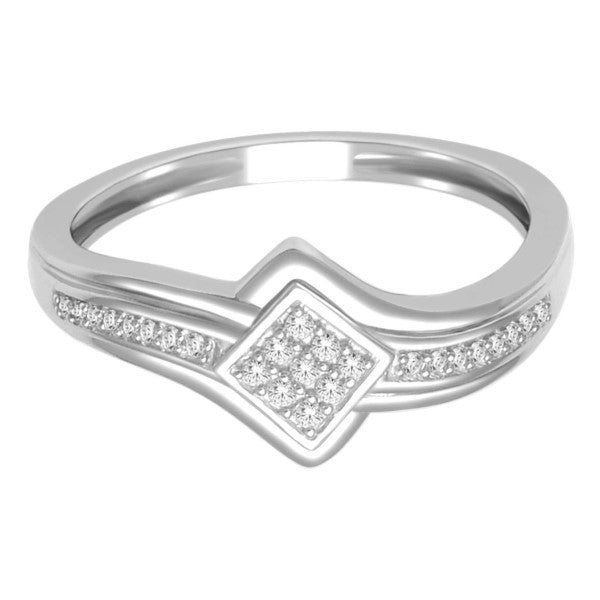 Promise Ring With 1/10 Carat Tw Of Diamonds In 10Kt White Gold