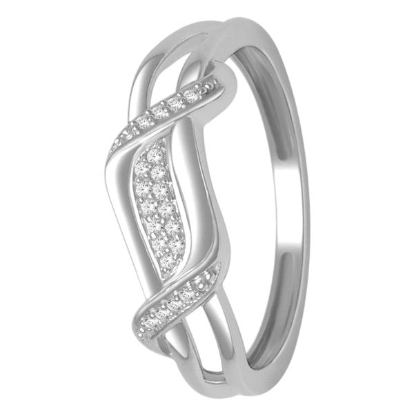 Diamond Ring With 1/15 Carat Tw Of Diamonds In 10Kt White Gold