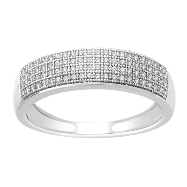 14kt white gold mens diamond wedding band with 14 carat tw of diamonds - Mens Diamond Wedding Rings White Gold