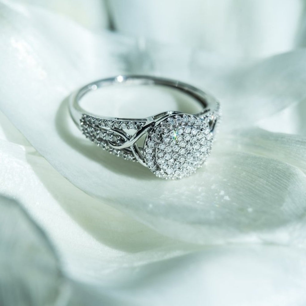 Engagement Ring With 1/3 Carat Tw Of Diamonds In 14Kt White Gold