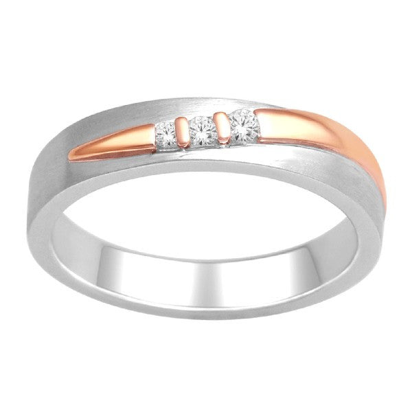 Three Stone Engagement Ring With 1/15 Carat Tw Of Diamonds In 14Kt White Gold