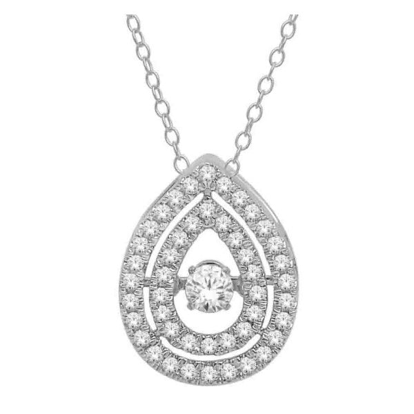 14Kt White Gold Fashion Pendant With 0.38 Carat Tw Of Diamonds