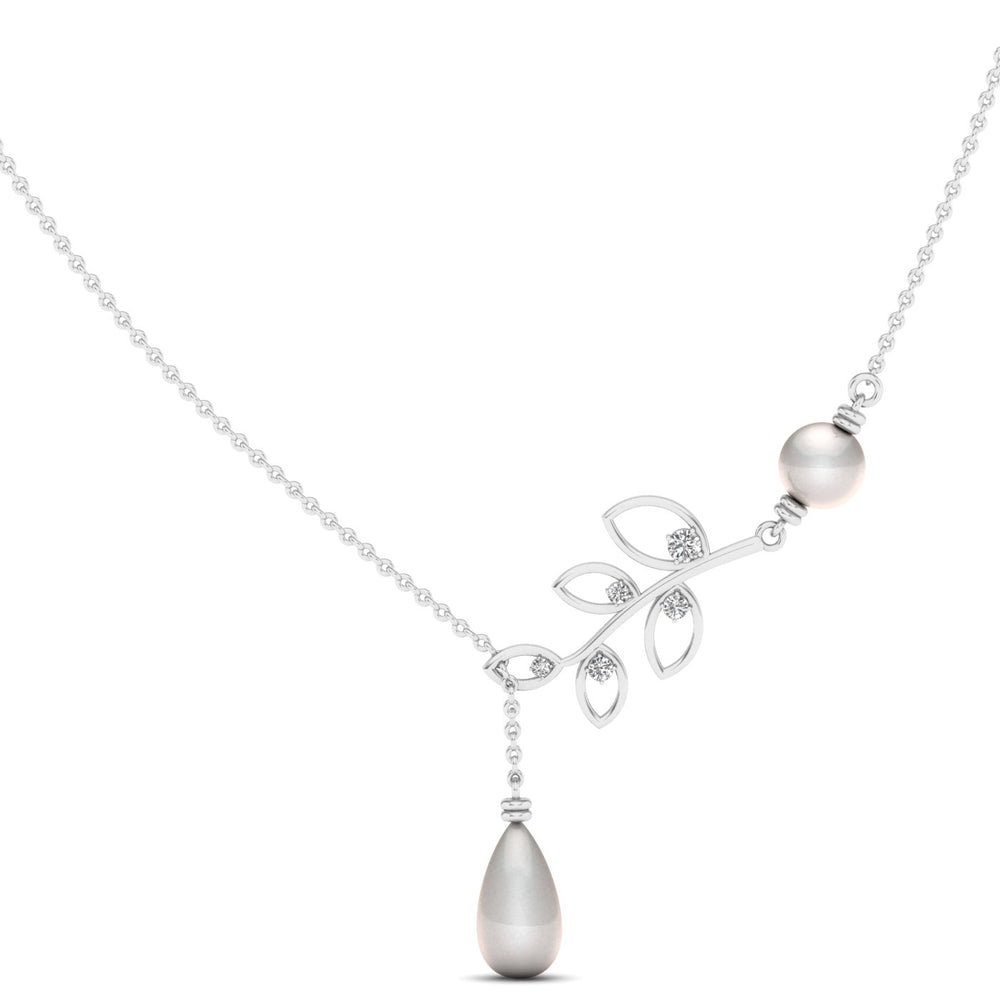Freshwater Cultured Pearl and Diamond Pendant with 1/5 ct Total Diamond Weight