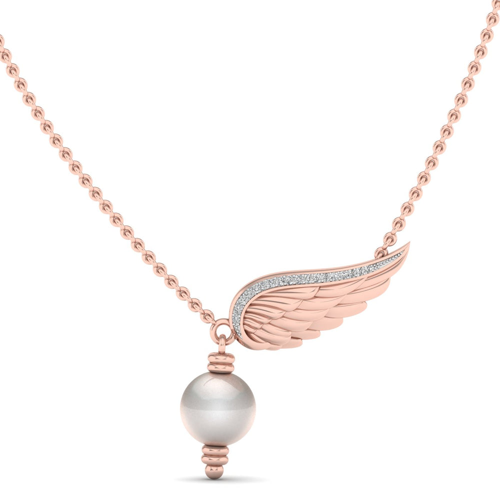 Freshwater Cultured Pearl and Diamond Pendant with 0.05 ct Total Diamond Weight