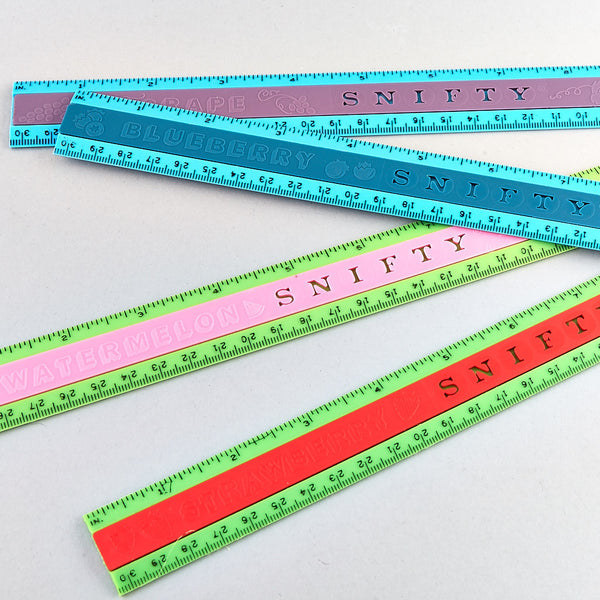 "Snifty Pens and Rulers - Snifty® 12"" Rulers - Floss and Rock"