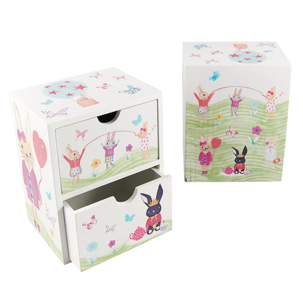 2 Drawer Chest Bunny Rabbit
