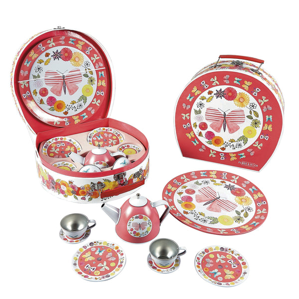 Tea Set 9pc Butterflies