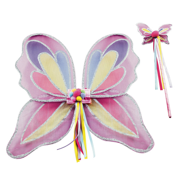 Dress Up Butterfly Wings and Wand Set