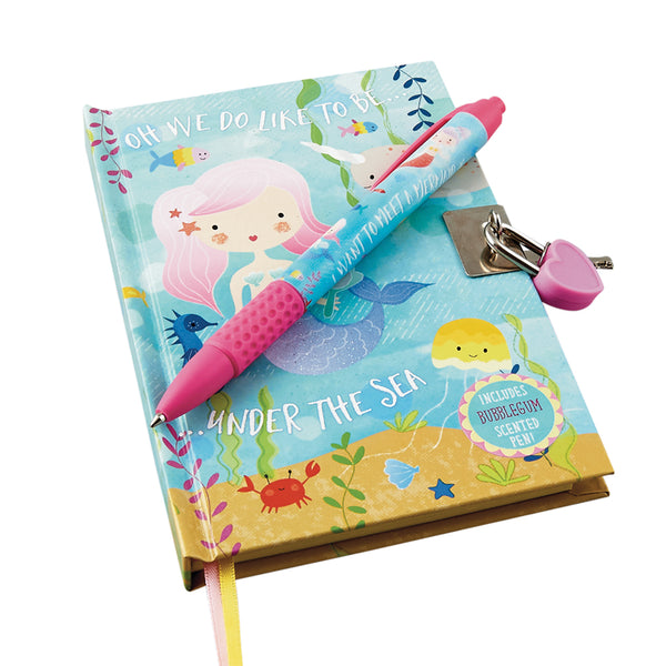 Lockable Diary with Scented Pen Mermaid