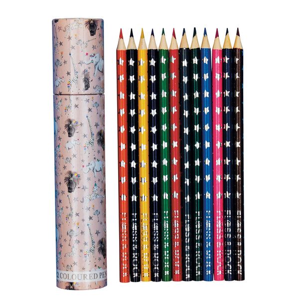Coloured Pencils Pack 12 in Tube Party Animals