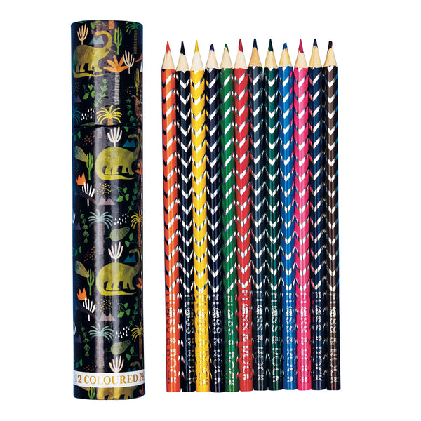 Coloured Pencils Pack 12 in Tube Dinosaur