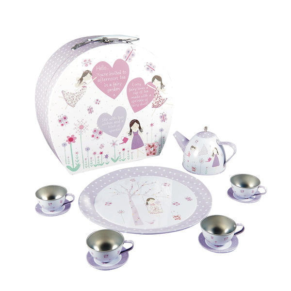 Tea Set Tin 11pc Fairy Blossom