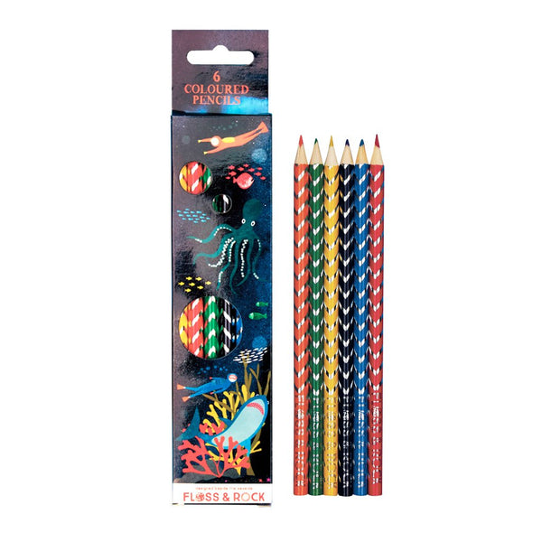 Deep Sea pack of 6 Pencils