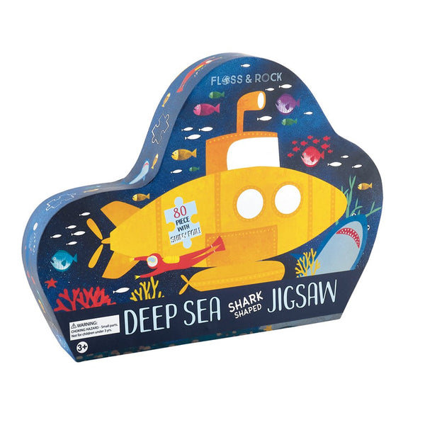 "Deep Sea 80pc ""Shark"" Shaped Jigsaw with Shaped Box"