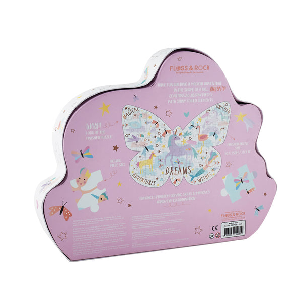 "* NEW * Fantasy 80pc "" Butterfly""  Shaped Jigsaw with Shaped Box"