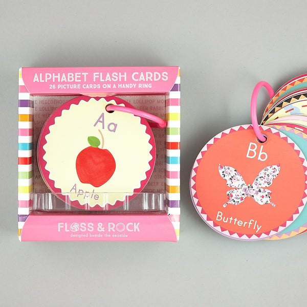 Games and Puzzles - * NEW * Flash Cards Alphabet A is for Apple - Floss and Rock
